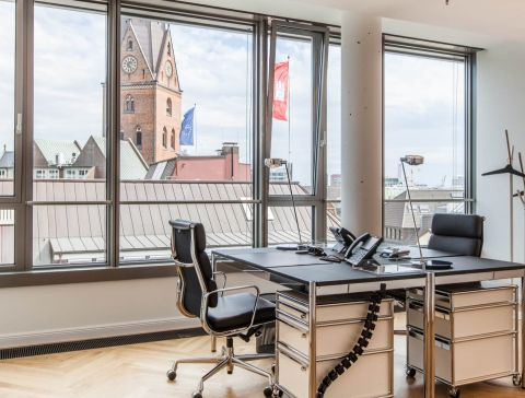 Rent team office in central Hamburg