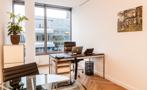 Day office with meeting desk in city center Hamburg
